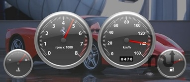 Screenshot 1 for Dashboard Gauges Widgets