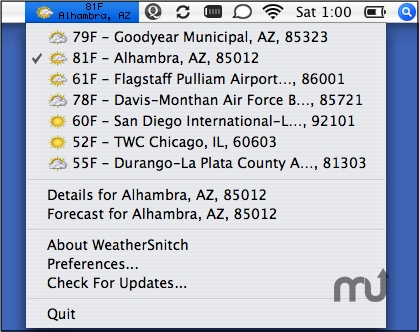 Screenshot 1 for WeatherSnitch