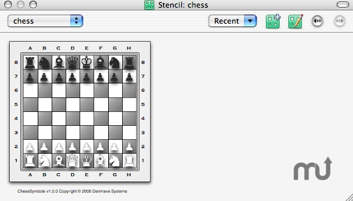 Screenshot 1 for ChessSymbols for OmniGraffle