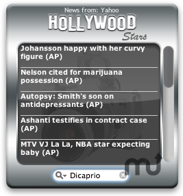 Screenshot 1 for Hollywood Widget