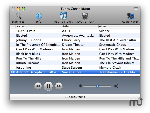 Screenshot 1 for iTunes Consolidator