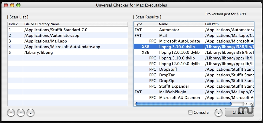 Screenshot 1 for Universal Checker
