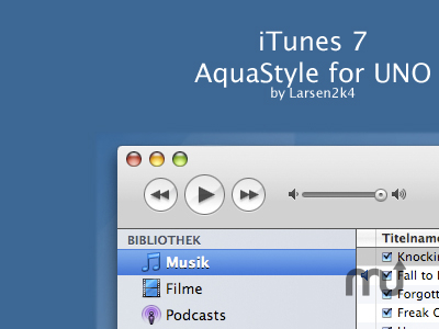 Screenshot 1 for UnoAquaTunes7