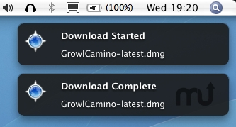 Screenshot 1 for GrowlCamino