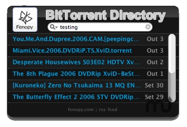 Screenshot 1 for BitTorrent Live Feed and Search