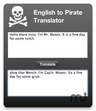 Screenshot 1 for Pirate Translator