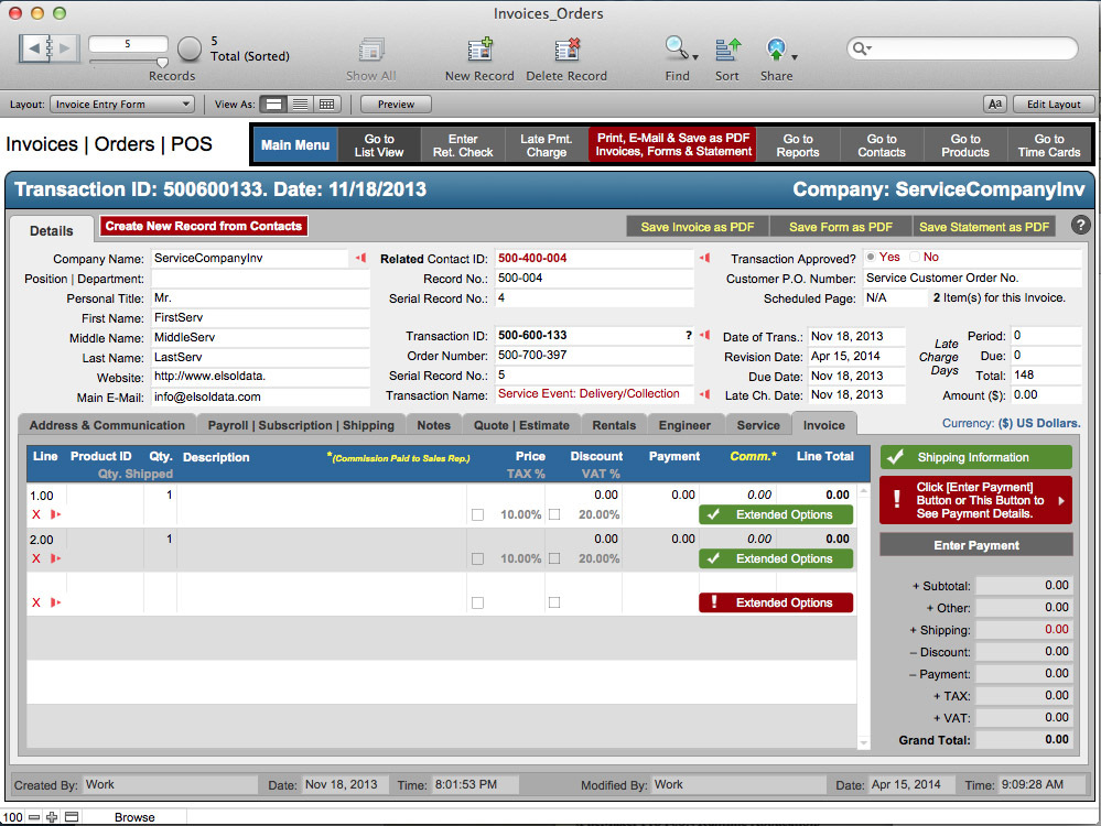 Businessaccounting x 5 1 0 free download for mac macupdate for Filemaker pro 13 templates
