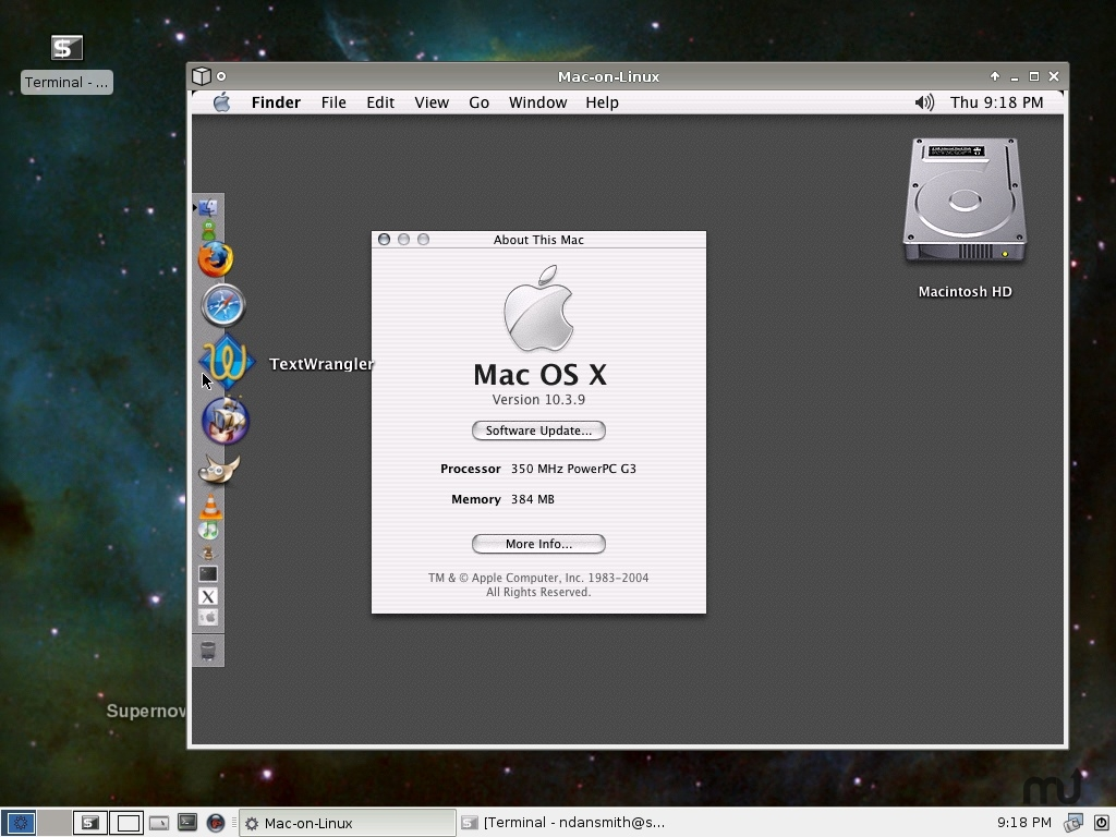 Screenshot 1 for Mac-on-Linux
