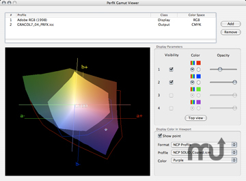 Screenshot 1 for PerfX 3D Gamut Viewer