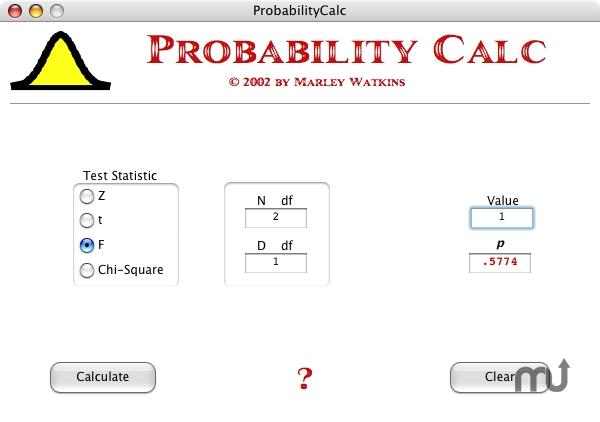 Screenshot 1 for ProbabilityCalc