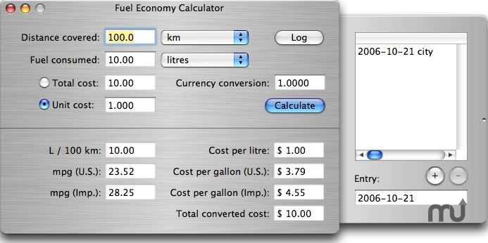 Screenshot 1 for Fuel Economy Calculator