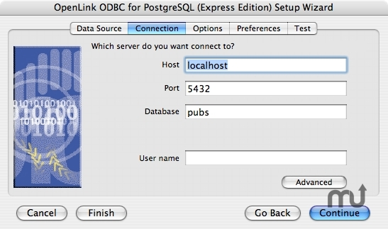 Screenshot 1 for OpenLink Express ODBC Driver for PostgreSQL