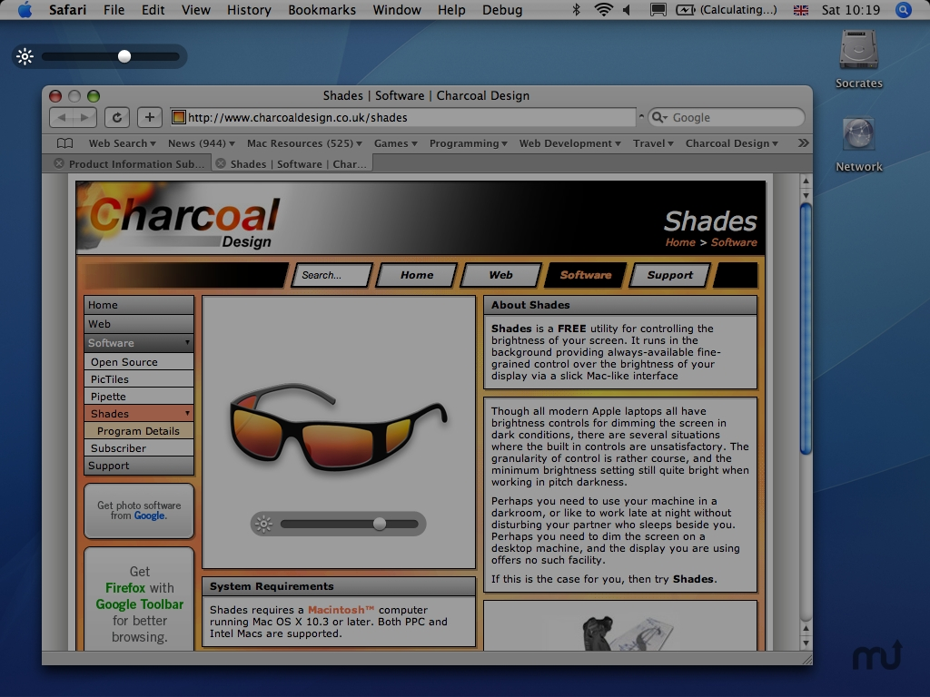 Screenshot 1 for Shades