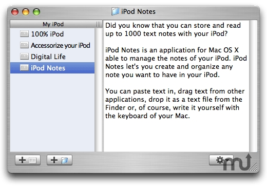 Screenshot 1 for iPod Notes