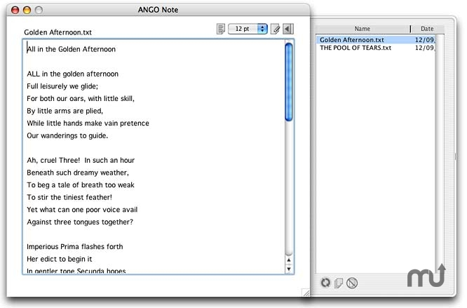 Screenshot 1 for ANGO Note