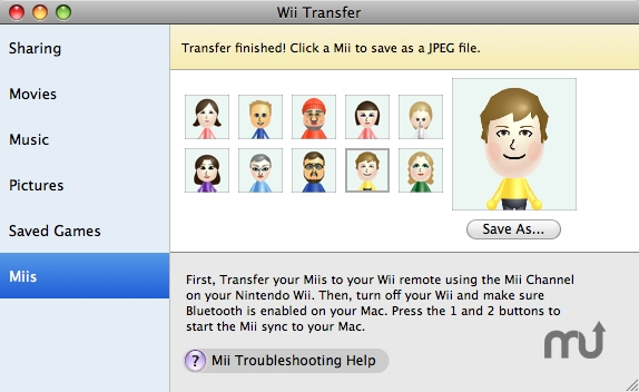Screenshot 1 for Wii Transfer