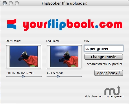 Screenshot 1 for flipbooker-sender