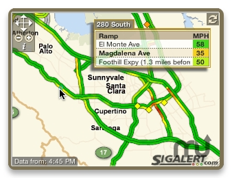 Screenshot 1 for SigAlert Traffic Maps Widget