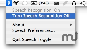 Screenshot 1 for Speech Toggle