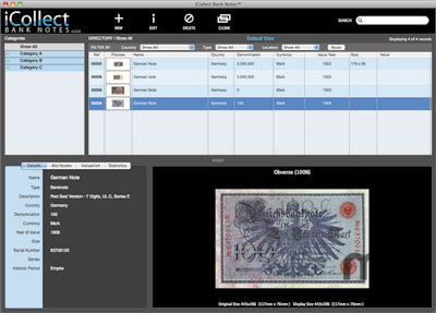 Screenshot 1 for iCollect Bank Notes