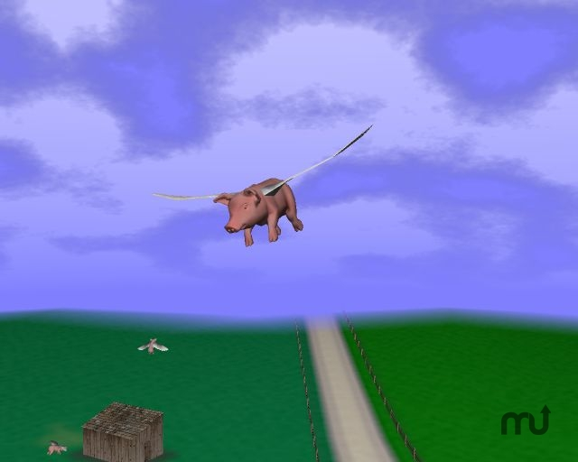 Screenshot 1 for When Pigs Fly! 3D Screen Saver