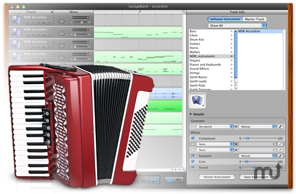 Screenshot 1 for MDR Accordion for GarageBand