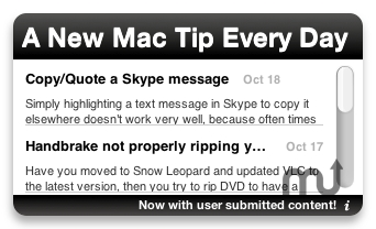 Screenshot 1 for A New Mac Tip Every Day