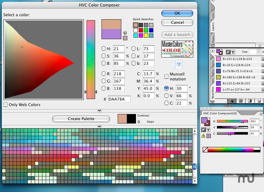 Screenshot 1 for HVC Color Composer Pro for InDesign for CS4