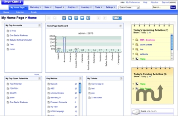 Screenshot 1 for JumpBox vTiger CRM