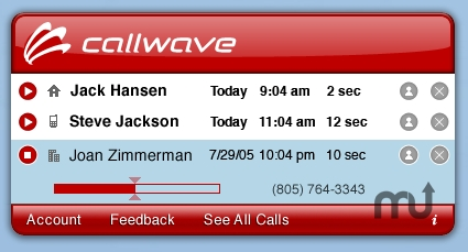 Screenshot 1 for CallWave Virtual Voicemail