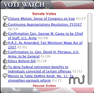 Screenshot 1 for VoteWatch