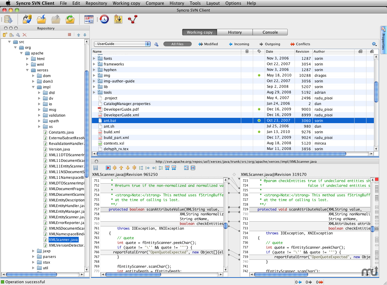 Screenshot 1 for Syncro SVN Client