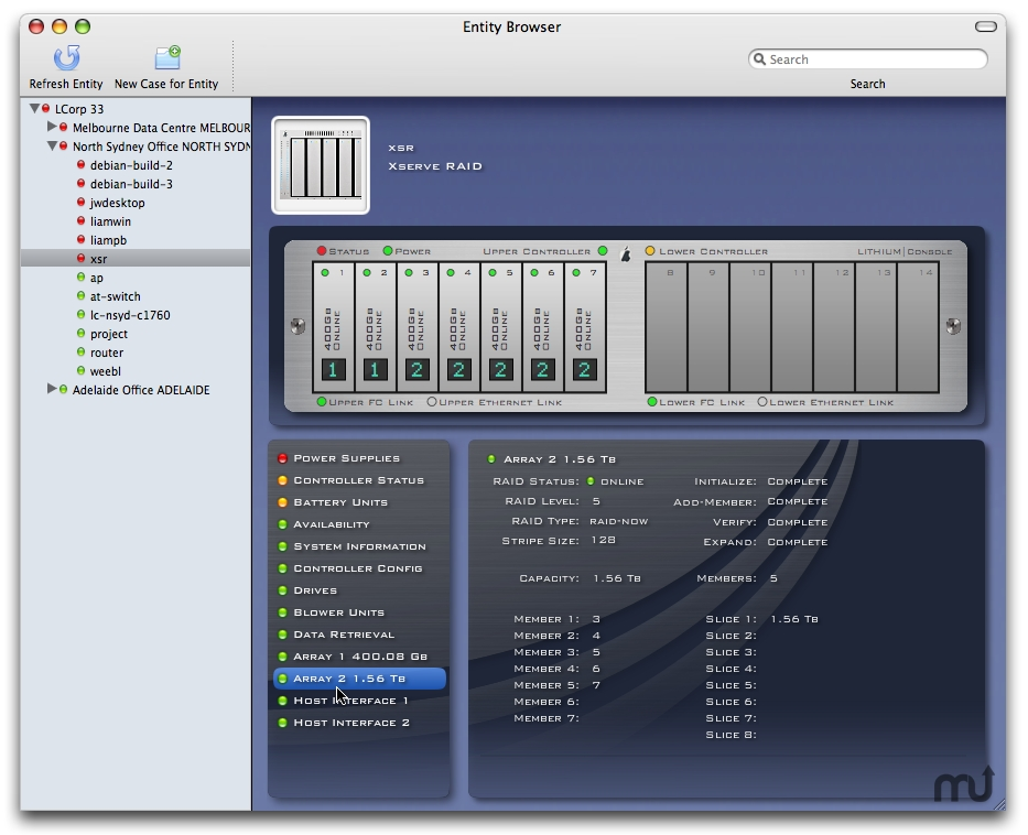 Screenshot 1 for Xserve RAID Monitoring Plug-in