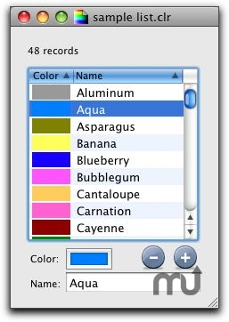Screenshot 1 for ColorListEditor