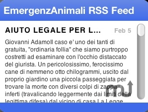 Screenshot 1 for EmergenzAnimali Annunci RSS Feed