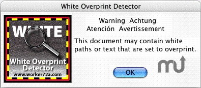 Screenshot 1 for White Overprint Detector