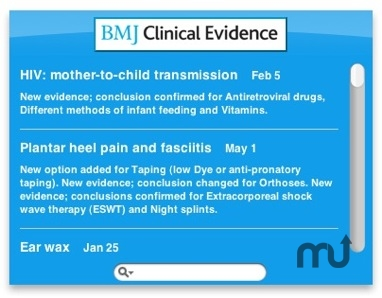 Screenshot 1 for BMJ Clinical Evidence Widget