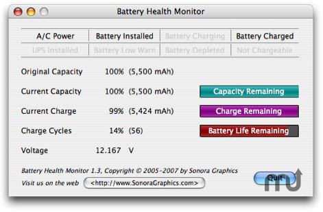 Screenshot 1 for Battery Health Monitor