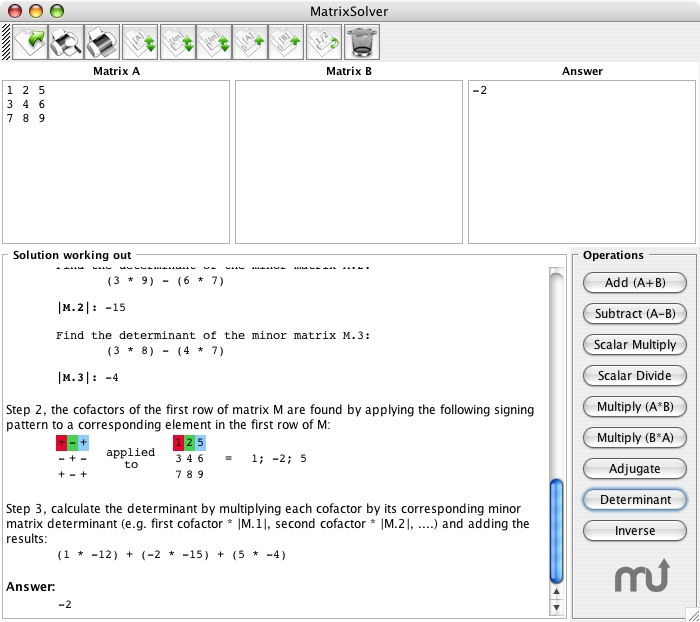 Screenshot 1 for MatrixSolver