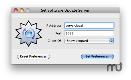 Screenshot 1 for Set Software Update Server