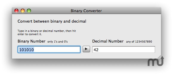 Screenshot 1 for Binary Converter