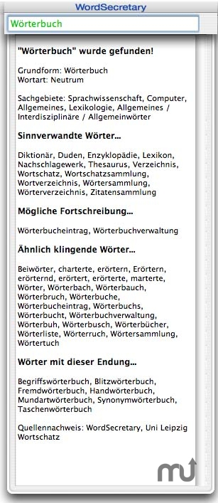 Screenshot 1 for WordSecretary Deutsch