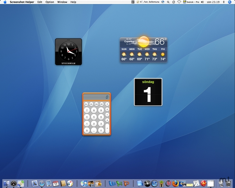 Screenshot 1 for Widget-to-Desktop