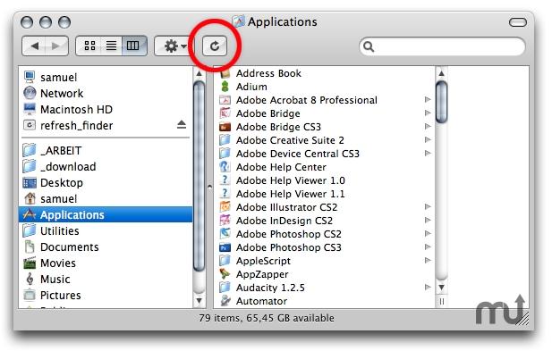 screenshot 1 for refresh finder