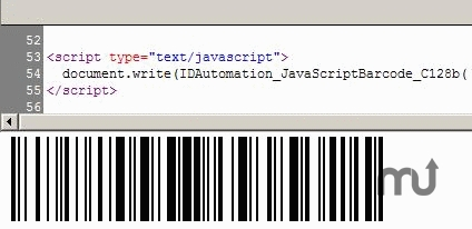 Screenshot 1 for AJAX and JavaScript Barcode Generator