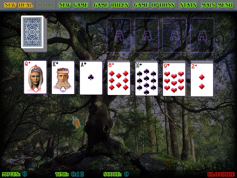 Screenshot 1 for Mystical Solitaire