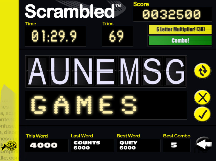 Screenshot 1 for Scrambled