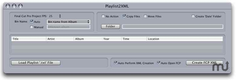 Screenshot 1 for Playlist2FCP