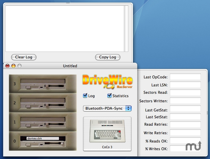 Screenshot 1 for DriveWire MacServer