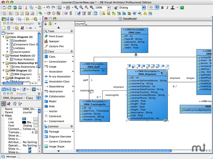 screenshot 1 for db visual architect - Visual Paradigm Viewer